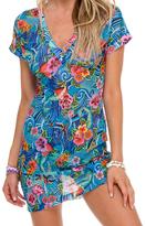 Luli Fama Mesh Vneck Body Con Dress In Multicolor (L515613)