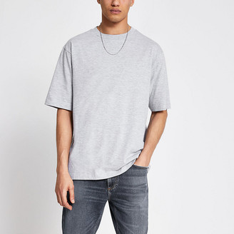 River Island Grey short sleeve oversized T-shirt