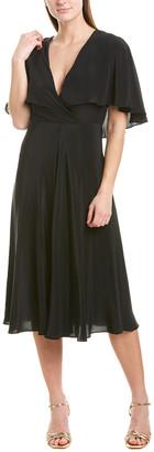 Allen Schwartz Lilia Silk Midi Dress