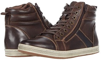 Propet Lucas Hi (Coffee Burnished Waxy Nubuck) Men's Lace up casual Shoes