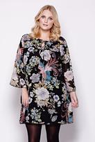 Yumi Curves Floral Smock Dress plus size 18 - 26 Multi