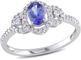 Ice Sofia B 2/3 CT TW Tanzanite 10K White Gold Ring with Diamond Accents