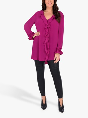 Live Unlimited Curve Ruffle Front Blouse