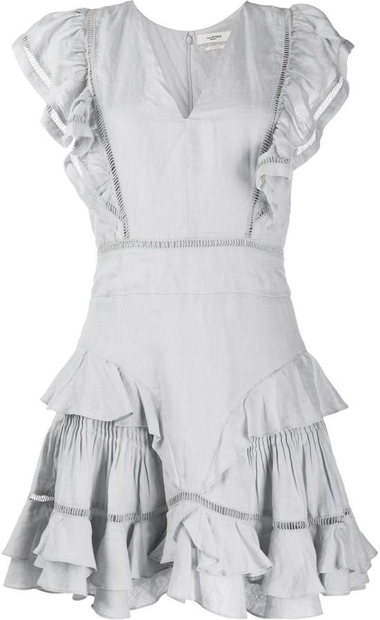 Etoile Isabel Marant sleeveless Audrey ruffle dress