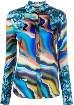 Roberto Cavalli Abstract Print Shirt