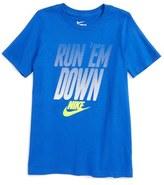 Nike Run 'Em Down Graphic T-Shirt (Little Boys & Big Boys)