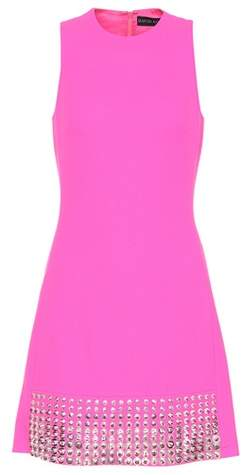 David Koma Wool crêpe sleeveless dress