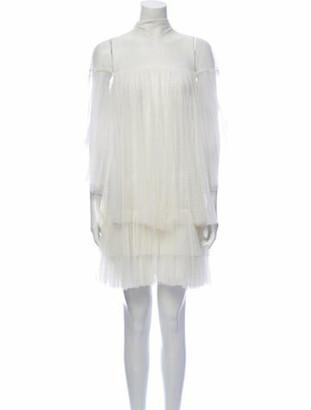 Valentino Mock Neck Mini Dress White