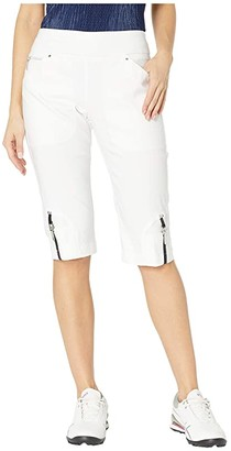 Jamie Sadock 24.5 Skinnylicious Pull-On Knee Capris (Sugar White) Women's Capri