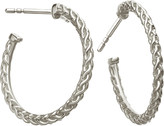 Astley Clarke Medium spiga sterling silver hoop earrings