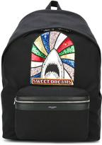 Saint Laurent Sweet Dreams City backpack - men - Cotton/Calf Leather - One Size
