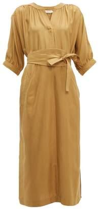 Zimmermann Espionage Belted Silk Tunic Dress - Womens - Beige