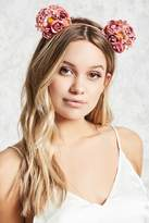 Forever 21 Floral Mouse Ear Headband