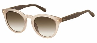 Fossil Women's Fos 2060/s Round Sunglasses BROWN 48 mm
