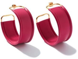 Jacquemus Les Fauteils Leather Hoop Earrings - Pink