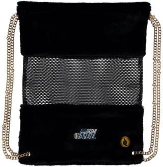 Utah Jazz Mesh Gold Chain Drawstring Bag