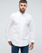 Paul Smith Tailored Fit Chest Logo Oxford Shirt in White