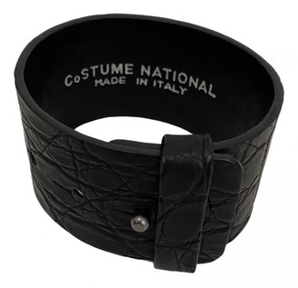 CNC Costume National Black Leather Bracelets