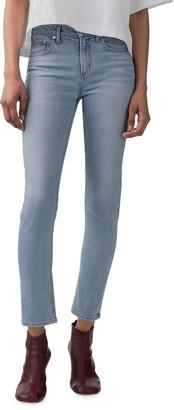 AGOLDE Toni Mid-Rise Slim Straight Jeans