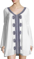 L-Space L Space Sina Embroidered Long-Sleeve Tunic
