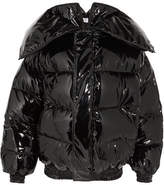 Vetements Miss Webcam Quilted Vinyl Jacket - Black