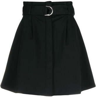 P.A.R.O.S.H. Belted Flared Skirt