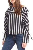 Topshop Women's Spliced Poplin Shirt