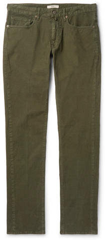 Incotex Slim-fit Stretch-cotton Corduroy Trousers - Green