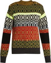 Toga Long-sleeved wool-blend jacquard sweater