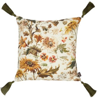 House of Hackney Avalon Medium Floral-print Canvas Cushion - Beige