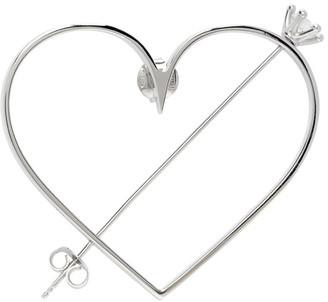 D'heygere Dheygere Silver Cupido Single Earring