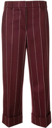 Thom Browne Shadow Stripe Cropped Trousers