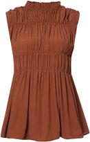 Marni gathered sleeveless blouse - women - Acetate/Silk - 38
