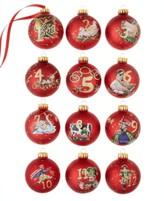 Kurt Adler 12 Days of Christmas Ornament Set
