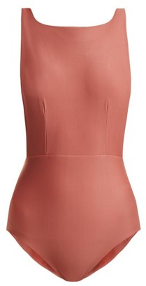 Haight Boat-neck Swimsuit - Womens - Pink