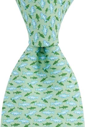Vineyard Vines Boys Fish With Shadow Printed Tie