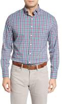 Peter Millar Collier Regular Fit Plaid Performance Sport Shirt