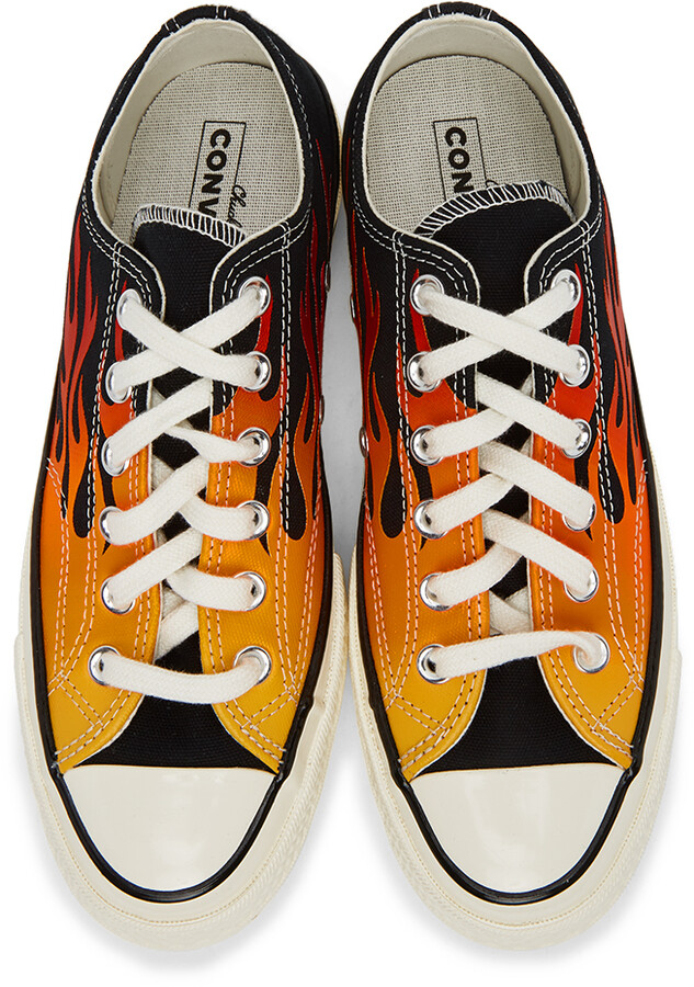 Thumbnail for your product : Converse Black & Red Flame Chuck 70 Low Sneakers