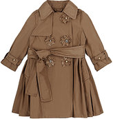 Lanvin TECH-TAFFETA TRENCH COAT-TAN SIZE 4
