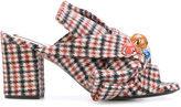 No.21 plaid embellished mules - women - Leather/Modal/Wool - 37