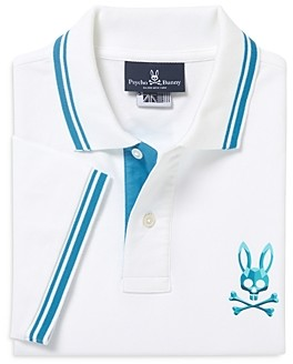 Psycho Bunny Boys' Milburn Cotton Polo Shirt - Little Kid, Big Kid