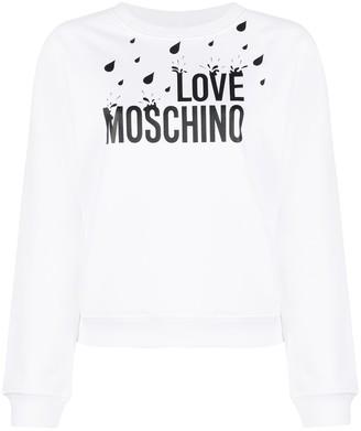 Love Moschino Raindrop-Print Sweater