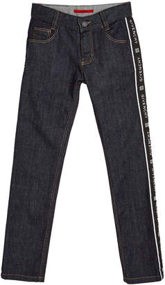 Givenchy Boy's Logo Trim Denim Jeans, Size 4-10