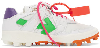 Off-White White and Multicolor Mountain Cleats Sneakers