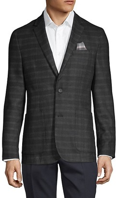 Vince Camuto Striped Notch Standard-Fit Jacket
