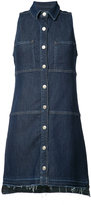 7 For All Mankind sleeveless denim dress - women - Cotton/Polyester/Spandex/Elastane/Rayon - S