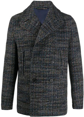 Missoni Double-Breasted Wool Peacoat