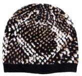 Diane von Furstenberg Patterned Knit Beanie