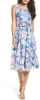 Gabby Skye Women's Floral Midi Dress