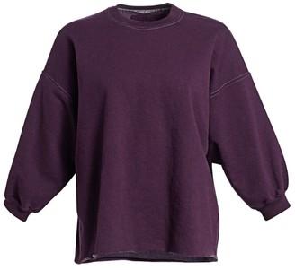 Rachel Comey Mingle Raw Collar Drop Sleeve Sweatshirt